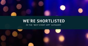 We are shortlisted in the best event app category